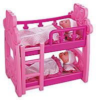 Кроватка для кукол двухэтажная арт. 661-18
