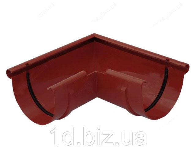 Угол внешний 90 град., водосточной системы Бриза (Bryza) 125 мм красный
