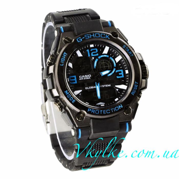 Часы Casio G-Shock GST-1000 черные с синим