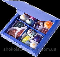 """Коробочка с конфетами ручной роботы """"Синяя""""."""