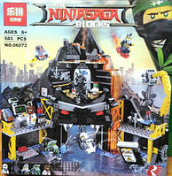 Конструктор Lepin Ninja Movie / Ниндзя 06072 Вулканическое логово Гармадона (аналог Lego Ninjago Movie 70631)