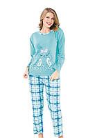 Теплая женская пижама с начесом