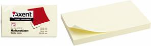 Стикеры для заметок Axent 75x125 мм жёлтые (2316-01)А)