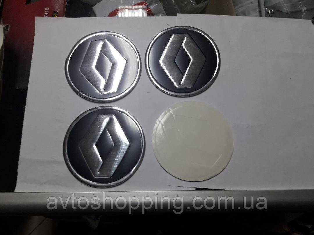 Наклейки на колпачки, заглушки, наклейки на диски 90 мм Renault рено