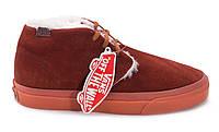Зимние кеды Vans коричневые