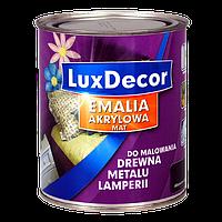 """Эмаль акриловая LuxDecor """"Абсолютный чёрный"""" 0,4 л (матовая)"""