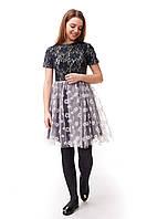 Нарядное подростковое платье для девочки с фатиновой юбкой