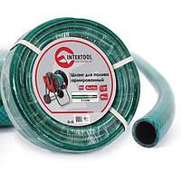 """Шланг для полива 3-х слойный 1/2"""", 100 м, армированный PVC INTERTOOL GE-4027"""