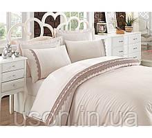 Комплект постельного белья сатин c вышивкой  COTTON BOX CAREN