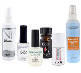 Вспомогательные жидкости (Праймеры, Покрытия для ногтей, Маникюрные масла, и т.п.)