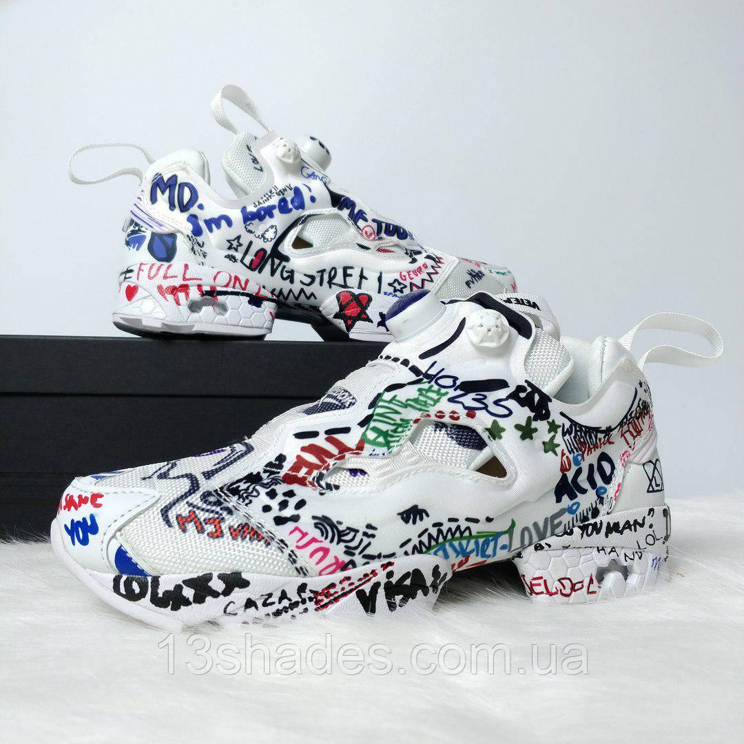 Женские кроссовки Reebok Insta Pump Vetements (Рибок Инста Памп)  разноцветные - Интернет-магазин d1da99490a9