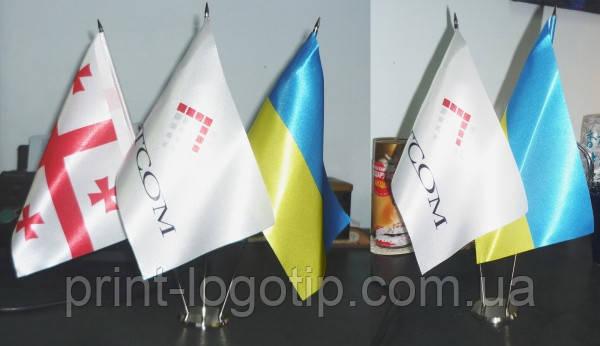 Изготовление флажков, настольные прапорці, рекламные флажки Киев