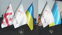 Изготовление флажков, настольные прапорці, рекламные флажки Киев, фото 1
