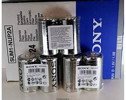Батарейки Sony R20 ORIGINALsize аккумуляторные элементы питания аа ааа
