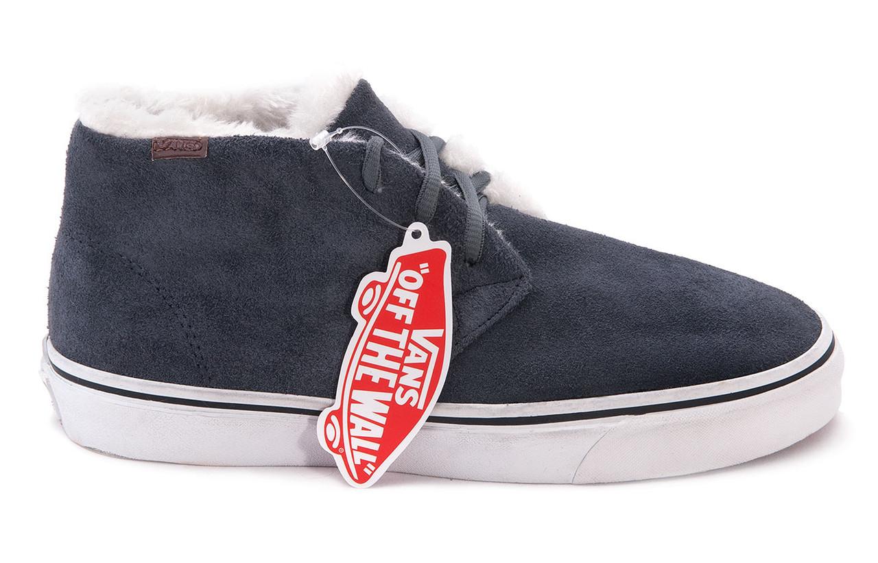 Зимние кеды Vans (Вансы) Chukka серые VC008 - Интернет магазин обуви  Wikishoes в Киеве d8dd5461ce6a8
