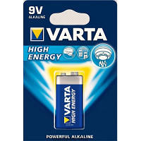 Батарейка VARTA HIGH Energy 6LR61 крона ORIGINALsize аккумуляторные элементы питания аа ааа