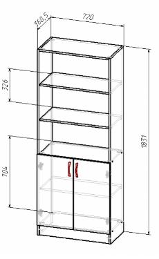 Шкаф файловый открытый В-183, фото 2