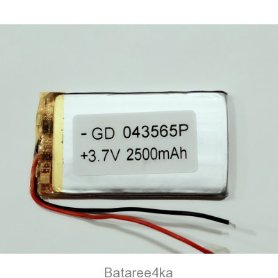 Аккумулятор LI-POL 043565 3.7V 2500MAH Originalsize батареи элементы питания