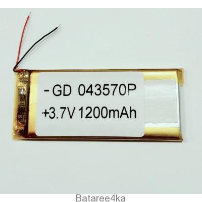 Аккумулятор LI-POL 043570 3.7V 1200MAH Originalsize батареи элементы питания