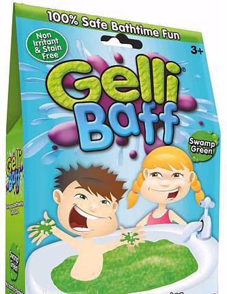 Снег для ванной Gelli Baff Green Джелли Бафф зеленый 300 г., фото 2