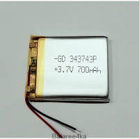 Аккумулятор LI-POL 343743 3.7V 700MAH Originalsize батареи элементы питания