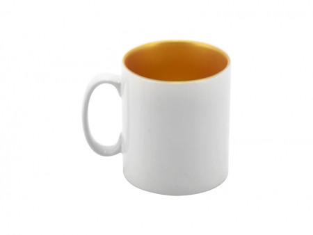 Чашка керамическая для сублимации белая c золотой внутренней поверхностью 330 мл Inner Sparkle Mug - GOLD. 10O