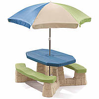 Столик для пикника с зонтиком Step2 8438, /G