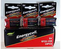 Батарейки Energycell 9V крона ORIGINALsize аккумуляторные элементы питания аа ааа
