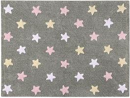 Lorena Canals - Ковер Tricolor Stars Grey - Pink