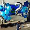 Фольгированные шары-цифры с гелием, серебро,  от 0 до 9, размер 88 см., фото 2
