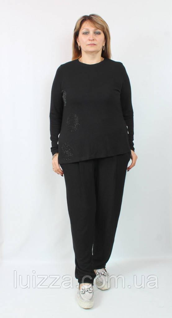 Женский турецкий костюм рубчик, с камнями и стразами 52-58 р   54