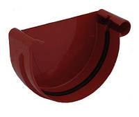 Заглушка желоба правая водосточной системы Бриза (Bryza) 125 мм красный