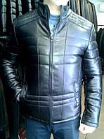 Кожаная куртка утепленная, фото 1