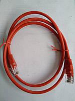 Кабель патчкорд UTP 8c штекер-штекер 0,5m,цвет красный