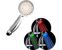 Лейка светодиодная для душа, трехцветная, сенсорная LED SHOWER