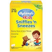 Hyland's, 4 Детский, Sniffles 'n Sneezes,Возраст 2-12, 125 быстрорастворимых таблеток