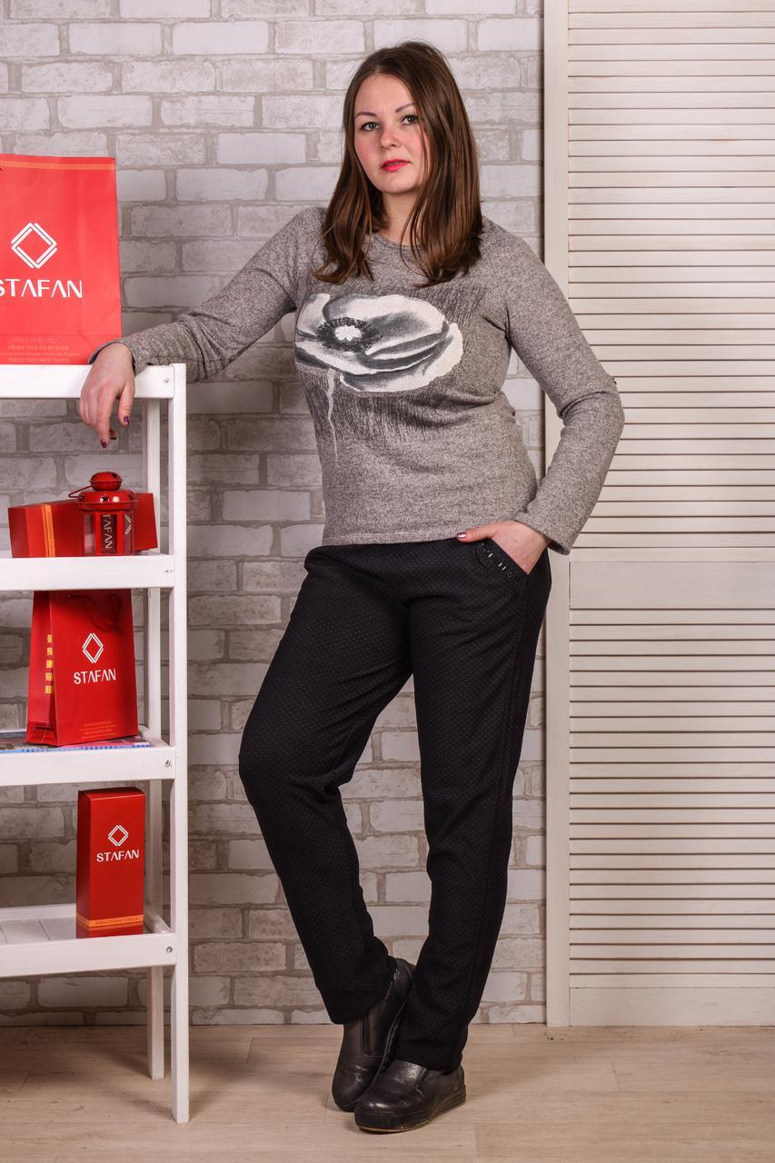 Женские лосины со стразиками на карманах Jujube B021-3 4XL-6XL. Размер