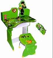 Детская парта растишка 501 Ben 10 зеленая ***