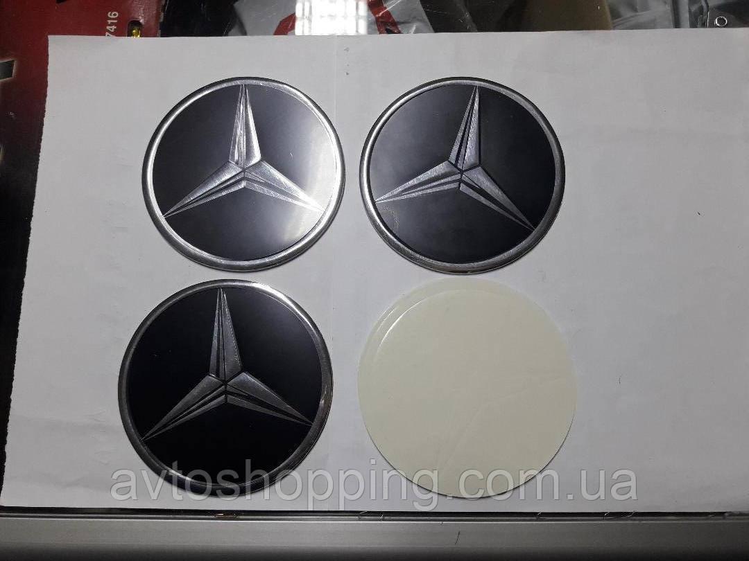 Наклейки на колпачки, заглушки, наклейки на диски 90 мм Mercedes