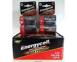 Батарейки Energycell R20 ORIGINALsize аккумуляторные элементы питания аа ааа