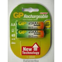 Аккумуляторы GP AA 2500 mAh ORIGINALsize аккумуляторные элементы питания аа ааа