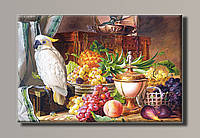 Картина HolstArt Натюрморт с фруктами и какаду 54*35,5см арт.HAS-411