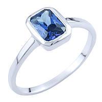 Серебряное кольцо Ромилда с синтезированным танзанитом 000055841
