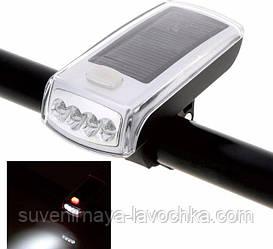 Велосипедний ліхтар з сонячною батареєю.