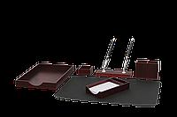 Настольный набор руководителя bestar 6144fdu на 6 предметов красное натуральное дерево