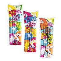Надувной пляжный матрас Bestway 44033: размер 183х69см, 3 цвета