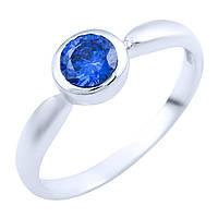 Серебряное кольцо Инджи с синтезированным танзанитом 000056126
