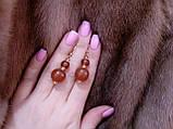 Янтарь серьги из натурального янтаря в позолоте винтажные серьги янтарь. Калининград, фото 2