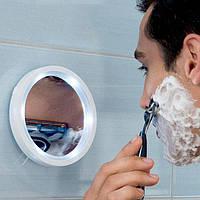 Зеркало увеличительное косметическое на присоске