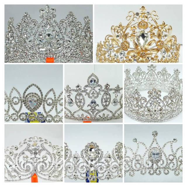 Свадебная бижутерия оптом, высокие короны.